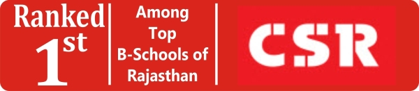 Ranked 1st, Top B-Schools of Rajasthan, CSR