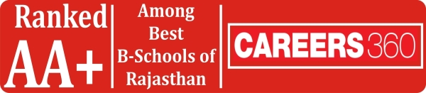 Ranked AA+, Best B-Schools of Rajasthan, CAREERS 360