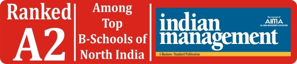 Ranked A2, Top B-Schools of North India, AIMA Indian Management